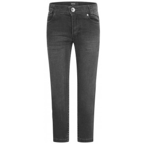 Hugo Boss boys slim fit denim jeansbroek in de kleur grijs