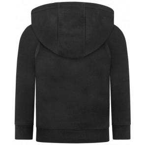 Hugo Boss boys hoodie trui met logo in de kleur zwart