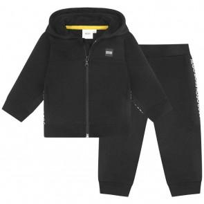Hugo Boss boys twee-delig joggingpak in de kleur zwart