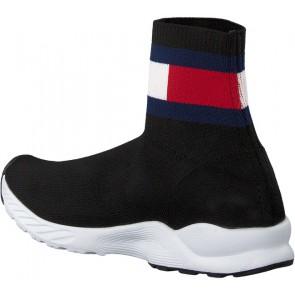 Tommy Hilfiger kids bootie sneaker sok schoen in de kleur black zwart