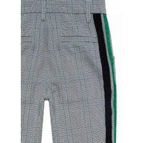 Circle of Trust Aggy geruite pantalon broek met groene bies in de kleur multicolor