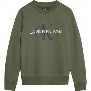 Calvin Klein Jeans sweater trui met logo in de kleur groen