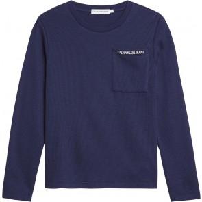 Calvin Klein Jeans longsleeve t-shirt in de kleur donkerblauw