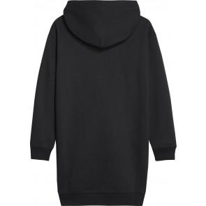 Calvin Klein Jeans sweatdress hoodie jurk met logo in de kleur zwart
