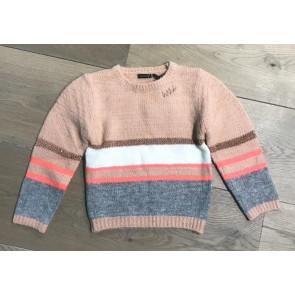 IKKS girls gestreepte gebreide trui in de kleur roze