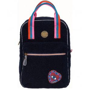 Le Big teddy rugzak tas in de kleur donkerblauw
