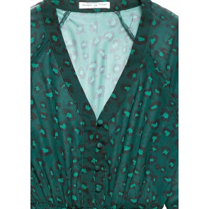 Circle of Trust Kira dress met all-over panterprint in de kleur groen