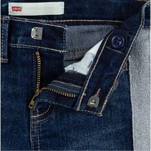 Levi's kids denim broek met zilveren bies 710 ankle super skinny fit in de kleur jeansblauw