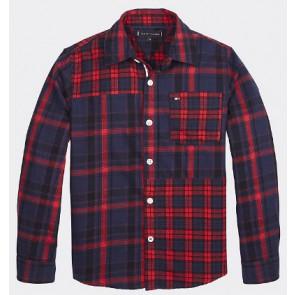 Tommy Hilfiger geruite blouse in de kleur multicolor