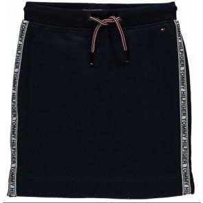 Tommy Hilfiger rok met logobies in de kleur donkerblauw