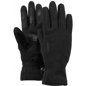 Barts kids fleece handschoenen in de kleur zwart