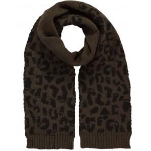 Barts Honey scarf sjaal met panterprint in de kleur groen