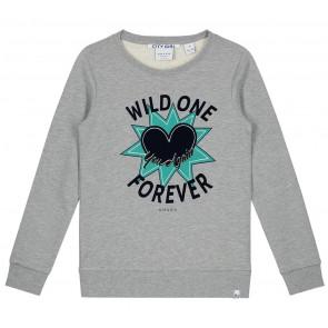 NIK en NIK Wild One sweater trui met print in de kleur grijs