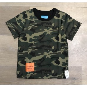 In Gold we Trust reversible t-shirt met print in de kleur zwart/groen