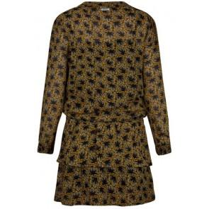 Retour Jeans Daria jurk met print in de kleur geel