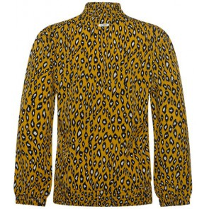 Retour Jeans Ann blouse met panterprint in de kleur geel