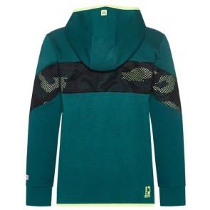 Retour Jeans Jorrit vest met fluor gele accenten in de kleur groen