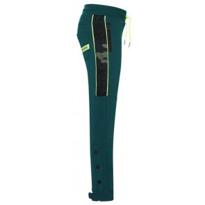 Retour Jeans Filipo sweatpants broek met fluor gele accenten in de kleur groen