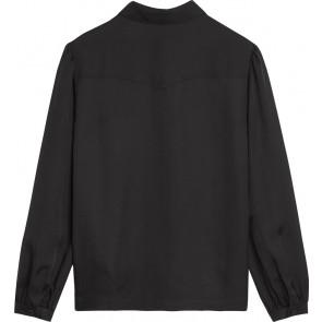 Calvin Klein Jeans blouse met logotape op de mouw in de kleur zwart