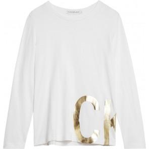 Calvin Klein Jeans sweater trui met logo in de kleur grijs