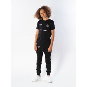 Black Bananas kids basic tee shirt in de kleur zwart