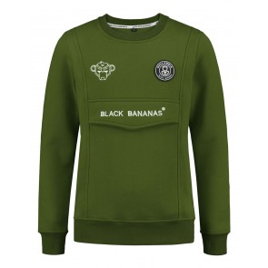 Black Bananas kids anorak sweater in de kleur moss green groen