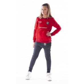 Black Bananas kids anorak sweater in de kleur red rood