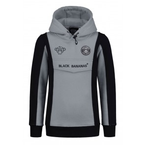 Black Bananas kids anorak block hoody sweater in de kleur grey grijs
