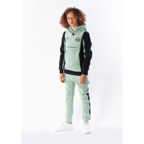 Black Bananas kids anorak block hoody sweater in de kleur mint