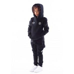 Black Bananas kids basic anorak hoody sweater in de kleur zwart