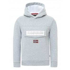 Napapijri kids anorak sweater trui burgee in de kleur grijs