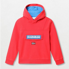 Napapijri kids anorak sweater trui burgee in de kleur rood