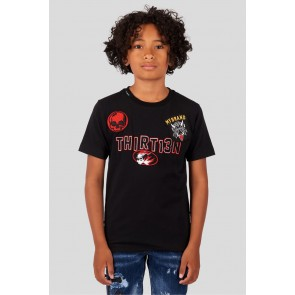 My Brand Junior t-shirt met patches in de kleur zwart