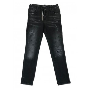My Brand Junior skinny fit ripped jeans broek in de kleur grijs