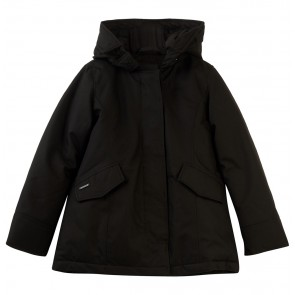Airforce girls winterjas 2 pocket parkal in de kleur black zwart
