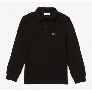 Lacoste longsleeve polo shirt in de kleur zwart