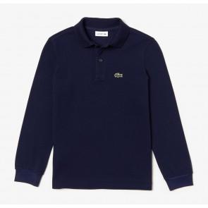 Lacoste longsleeve polo shirt in de kleur donkerblauw