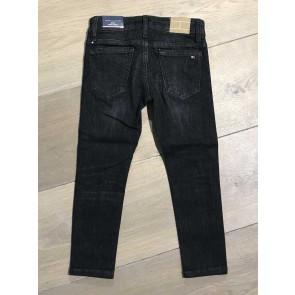 Tommy Hilfiger kids boys jeans broek simon skinny stretch in de kleur zwart