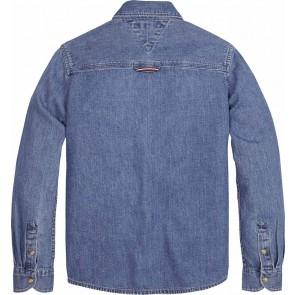 Tommy Hilfiger kids boys jeansblouse shirt in de kleur jeansblauw