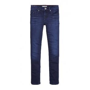 Tommy Hilfiger kids girls nora skinny stretch jeans broek in de kleur donkerblauw