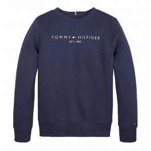 Tommy Hilfiger kids boys essential sweatshirt in de kleur donkerblauw
