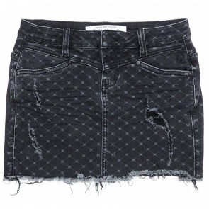 Circle of Trust denim rok met print in de kleur zwart