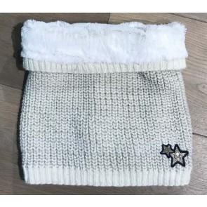 IKKS girls col sjaal met teddy vacht in de kleur off-white