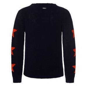 Retour Jeans gebreide trui met sterren in de kleur zwart