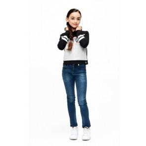 Retour Jeans hoodie trui met tekst in de kleur zwart