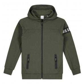 NIK en NIK Murphy jacket vest in de kleur legergroen