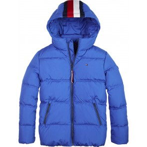 Tommy Hilfiger winterjas met logoband in de kleur blauw