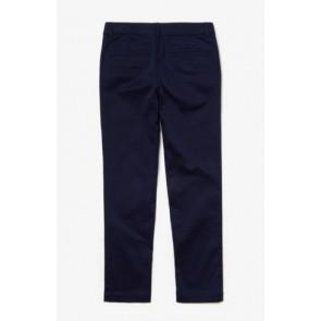 Lacoste chino broek in de kleur donkerblauw