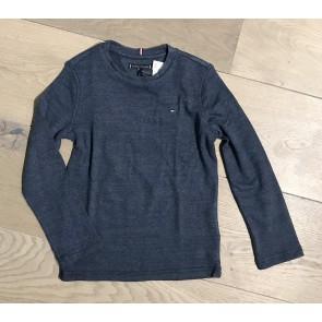 Tommy Hilfiger kids boys fijngebreid longsleeve shirt in de kleur blauw