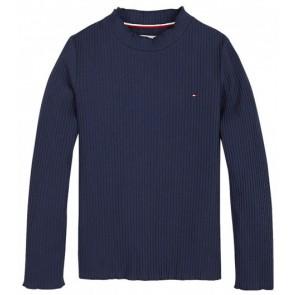 Tommy Hilfiger col trui in de kleur donkerblauw